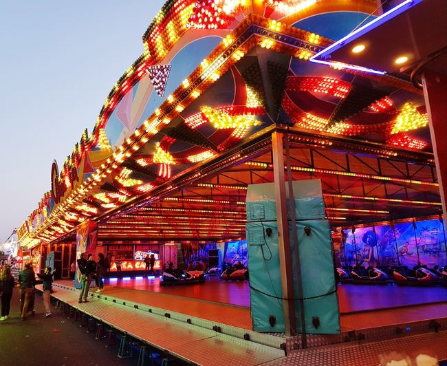 Illuminated Night EyeEmNewHere Outdoors Belgium♡ Close-up EyeEm Best Shots Photo♡ City EyeEm Diversity Photography Is My Escape From Reality! Spotlighted Nightphotography Amusement Park Arts Culture And Entertainment Sky Amusement Park Ride Multi Colored No People Architecture Carousel Neon