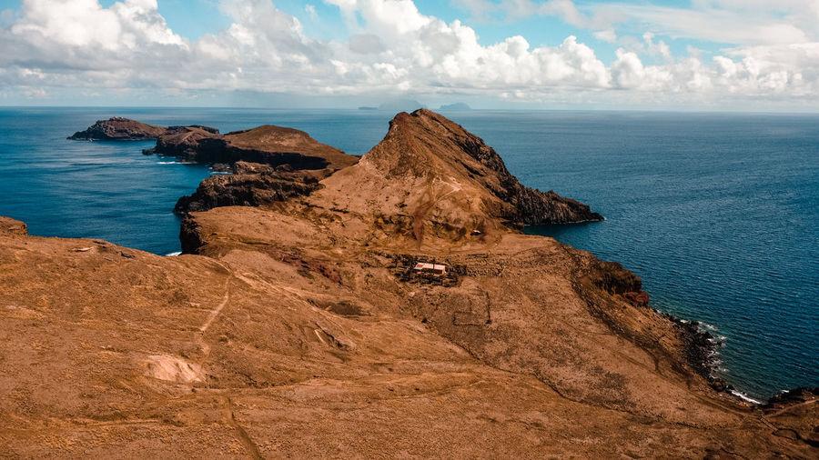 Madeira island. ponta de sao lorenco. portugal. drone shot - aerial view. cape of the island