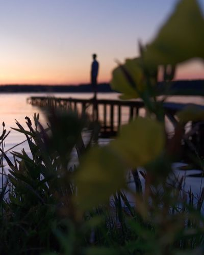 Sky Sunset Beauty In Nature Water Nature Sea Tranquility Beach Tranquil Scene Scenics - Nature Silhouette Plant Outdoors Horizon Over Water Real People Orange Color Land