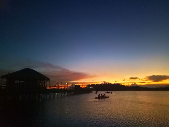 Sunset Silhouette Sea Sky Outdoors Blue Built Structure Stilt House Tranquility Water Architecture Tranquil Scene Vacations No People Travel Destinations Scenics Multi Colored Horizon Over Water Nautical Vessel Building Exterior Sorsogoncity Sorsogon Wilmor Latosa Sorsogonprovince