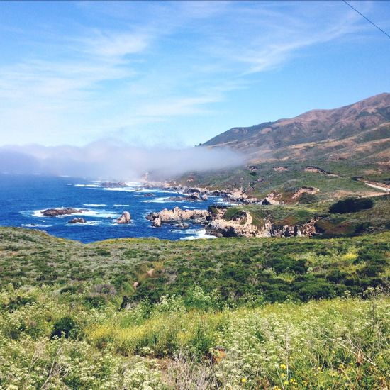 Big Sur, California. Blue Coastline Landscape