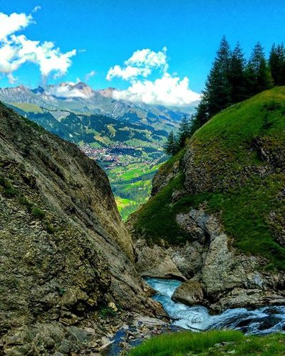Jems everywhere you look... Engstlingenalp Engstligenfalls Klettersteig Adelboden Waterfall View Blueskies Village in the Distance Nature Naturelover Mysummeradventure2015 Explore Exploreswitzerland Switzerland Nofilter HTC HTCDesireEye