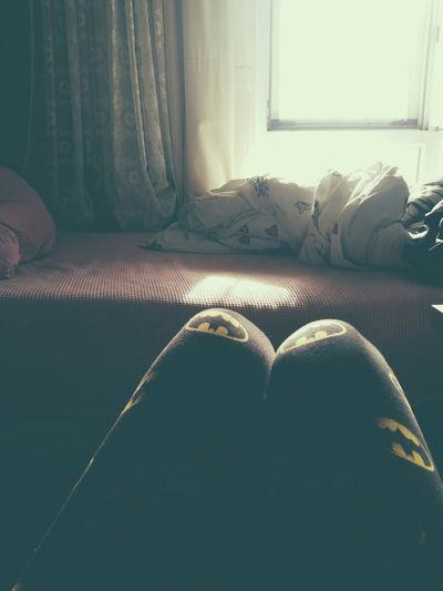 Batman Leggings Window Bed