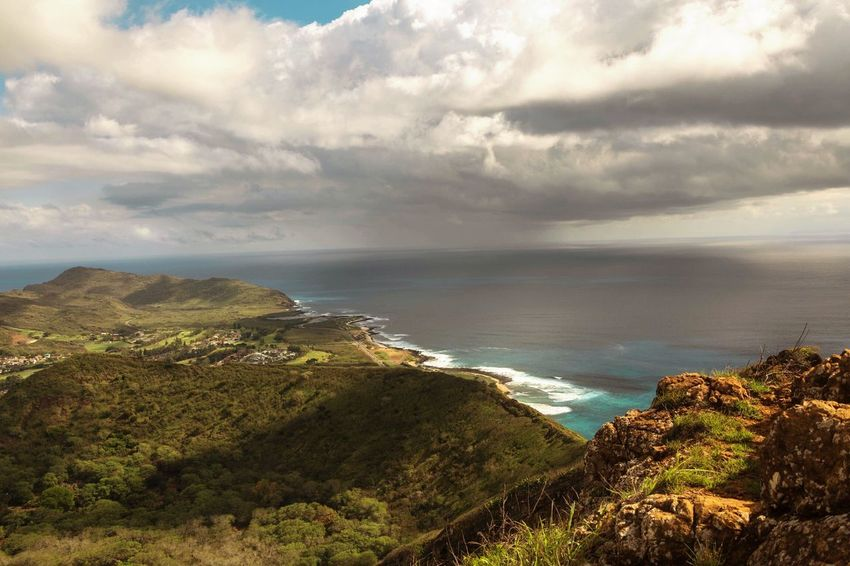 Sea Sky Nature Beauty In Nature Landscape Scenics Outdoors No People Day Hawaii Antidepressants Cloud - Sky Travel Tranquility Hiking High Angle View Beach Beauty In Nature Horizon Over Water Finding New Frontiers Nature Koko Head  Koko Head Trail
