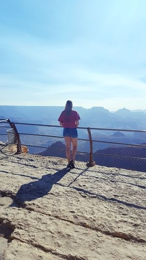 Grand Canyon Mountain Mountain View Mountains And Sky One Person Adult Shadow People Casual Clothing Vacations Walking Nature Outdoors Standing Sunlight