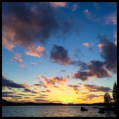 11pm. Sunsets ... I can't help it - I love them. Betarsjön Ångermanland Sweden Visitsweden Swedishmoments