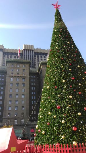 Christmas Tree Christmas Decoration Unionsquare San Francisco Smartphone Photography Smartphone Photographer Cityscape Norcal Cali Life