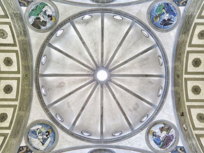 Cathedral Church Florence Italy Renaissance Santa Croce Cathedral Tuscany Architecture Art Ceiling Indoors  No People Pattern