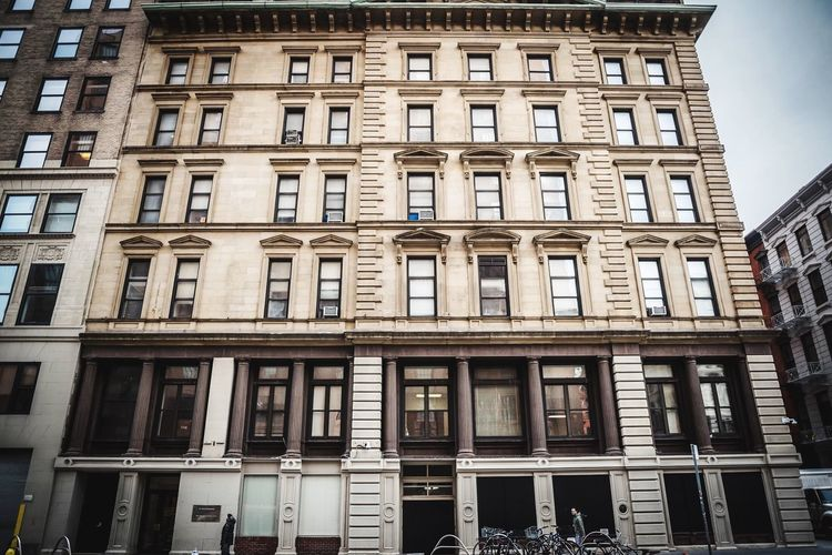 Image New York NYC Building Architecture Building Exterior Low Angle View Built Structure Window Day Outdoors City No People Sky