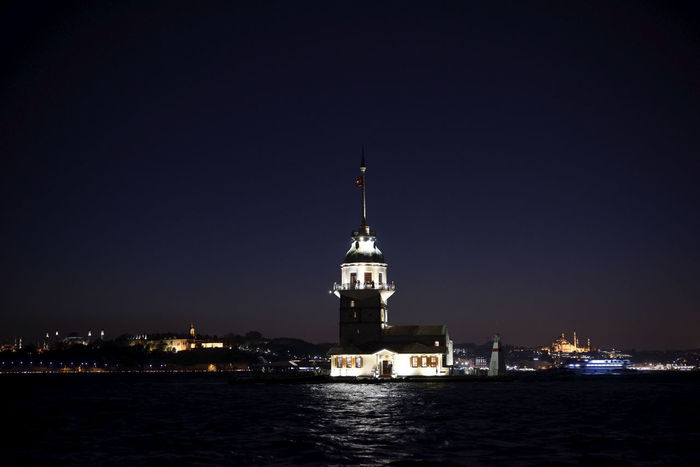 Maidens Tower at night Bosphorus City City Life EyeEm EyeEmNewHere Istanbul Light Maiden Tower Turkey Twilight Evening Istanbul City Kızkulesi Maidenstower Night Sea Uskudar ıstanbul