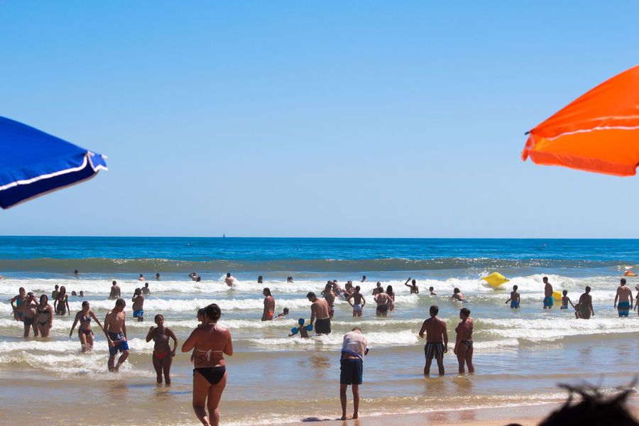 Praia da Manta Rota. Beach Blue City Life Clear Sky Enjoyment Fun Holiday - Event Horizon Over Water Large Group Of People Leisure Activity Lifestyles Person Scenics Sea Seascape Shore Sky Summer Tourism Tourist Tranquility Travel Destinations Vacations Water Weekend Activities