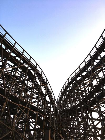 Low Angle View Built Structure Clear Sky Amusement Park Rollercoaster No People Amusement Park Ride T Express School Trip Adventure