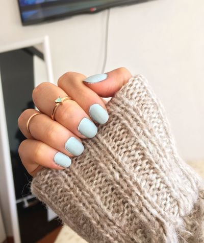 Nails Matte Skyblue Fashion