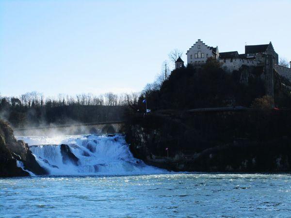Rheine Rheinefalls Schweiz Schaffhausen On Tour Water Canon Ixus Waterfalls