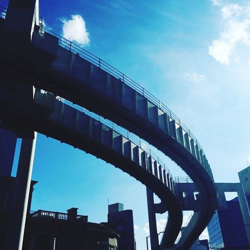 Architecture Low Angle View Sky Blue Outdoors No People Chiba Japan Photography Japan Railway Modern Futuristic