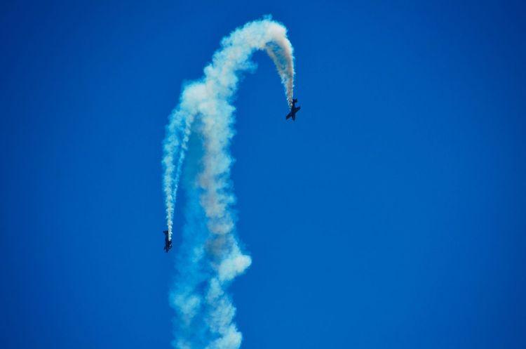 Adventure Air Show Blue Flight Flying Freedom Mid-air Motion Outdoors Sky Thrill Thrillseeker