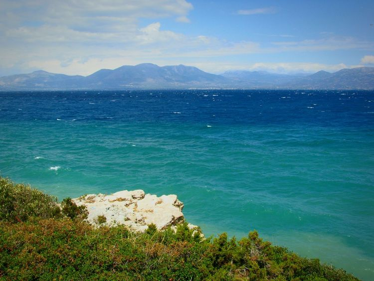 Windy Day Sea Mountain Scenics Outdoors Water Beauty In Nature Travel Destinations Cloud - Sky Nature Landscape Sky Seascape Waves Waves And Rocks Waves Rolling In Viewpoint Viewpoints