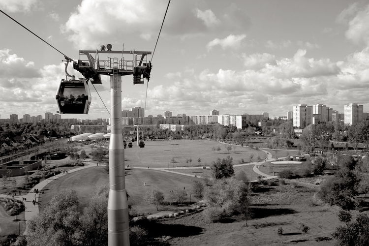 Berlin Hellersdorf IGA 2017 Architecture Building Building Exterior Built Structure Cable Cable Car City Cityscape Cloud - Sky Construction Industry Day Machinery Mode Of Transportation Monochrome Nature No People Outdoors Overhead Cable Car Road Sky Track Transportation Adventures In The City
