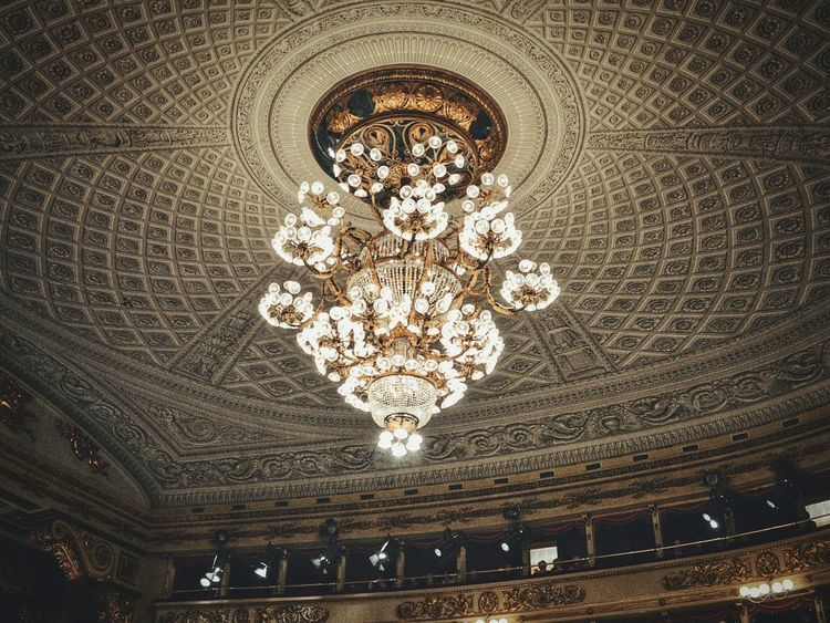 Chandelier Ceiling Indoors  Lighting Equipment Low Angle View Architecture Architecture_collection Week On EyeemArchiTexture Fine Art Photography Close-up Architecture Eyeemphoto Indoor Photography Theater Teatro Alla Scala Historical Building Milanomonamour Operahouse Opera House