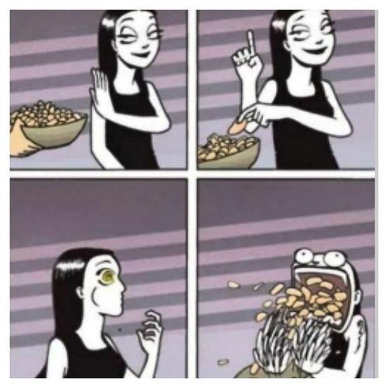 Definitely a true story. :) I couldn't resist a good potato chips. XD LOL Funnypics Foodporn Foodlover