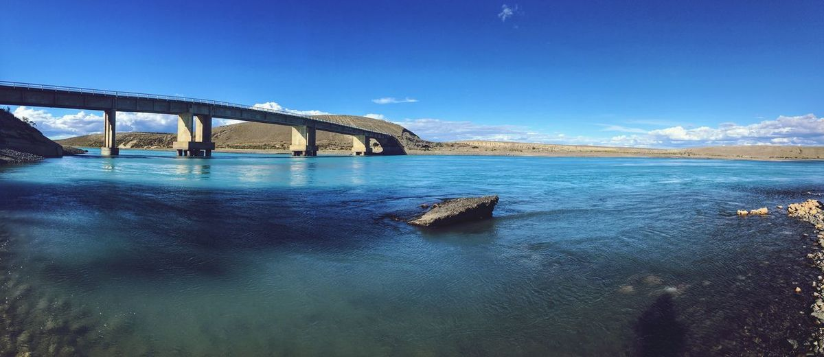Panoramica Water Sky Nature Built Structure Outdoors Tranquil Scene Bridge - Man Made Structure Connection No People Popckorn Day Tranquility Calafate