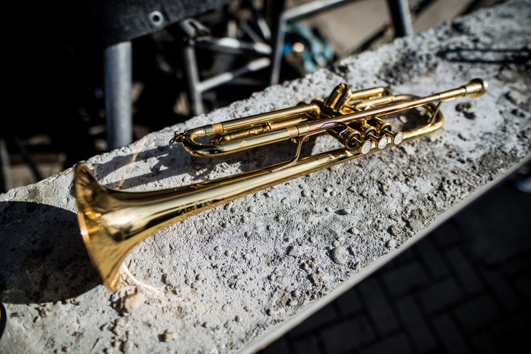 Close-up Day Gold Colored Jazz Jazz Music Metal Music Music Instrument Musical Instrument No People Selective Focus Street Music Street Music Day Street Musicians Streetphotography Trumpet