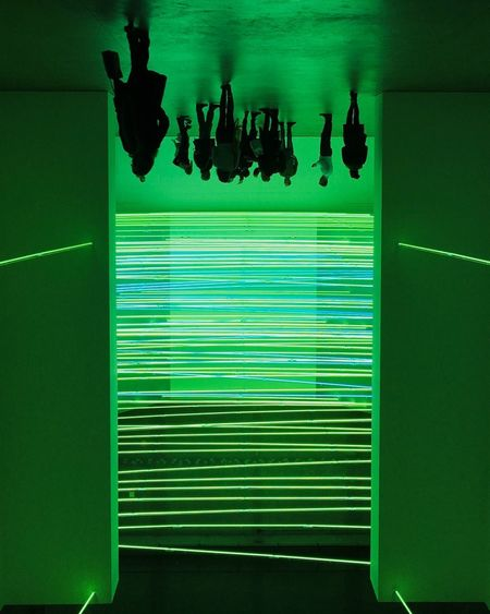 Lucio Fontana Architecture Green Color Stories From The City Art Close-up Color Day Experience Green Color Hanging Indoors  Lucio Fontana No People People Shadow Upside Down