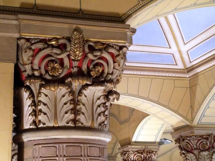 Kunsthalle Karlsruhe, Foyer Architectural Column Architectural Detail Architectural Feature Ceiling Design Column Capitals Historic