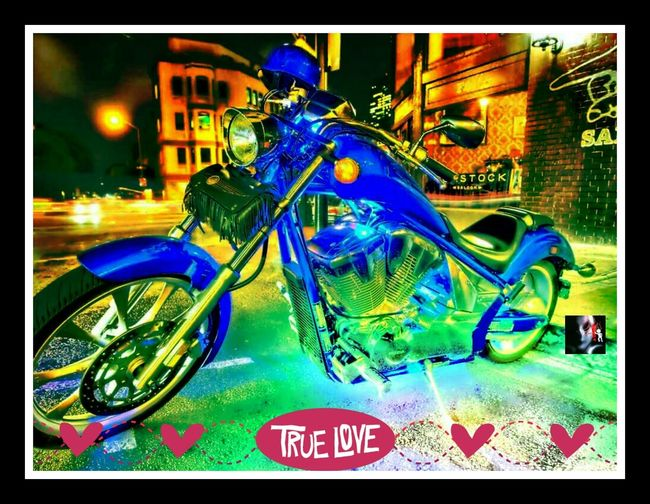 Motorcycle Hello World Night Photography HDR Streetphotography