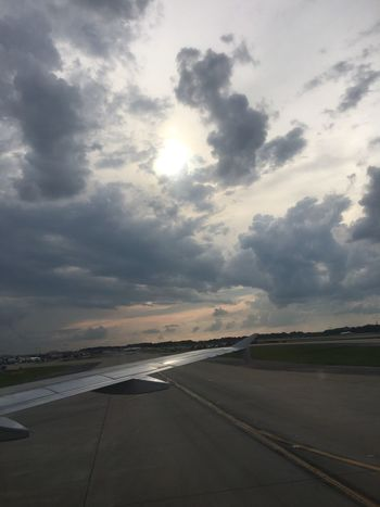Transportation Cloud - Sky Sky Road The Way Forward No People Outdoors Nature Scenics Airport Runway Sunset Beauty In Nature Airplane