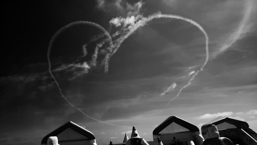 Air Show Love... Air Show Eastbourne Pier Airshow Sky_collection Love Heart Sky And Clouds Skyporn Aviation Aviation Photography Aviation Festival Airborne Blackandwhite Blackandwhite Photography