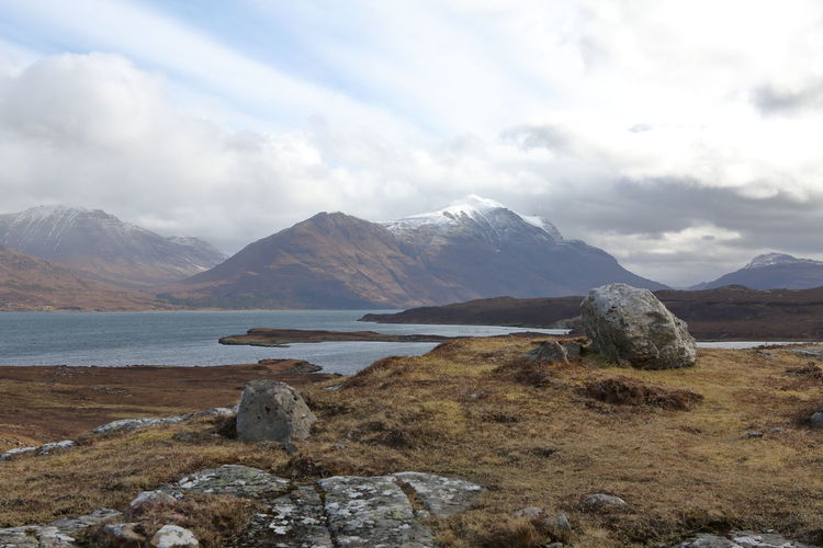 Mountain View Scotland Is Incredible Scotland 💕 Scottish Torridon Beauty In Nature Cloud - Sky Day Environment Highlands Highlands Of Scotland Lake Landscape Mountain Mountain Peak Mountain Range Mountains Nature No People Rock Rock - Object Scenery Scenics - Nature Scotland Wild Landscape Scotlandsbeauty Scottish Highlands Sky Solid Torridon Mountains Tranquil Scene Tranquility Water Wilderness