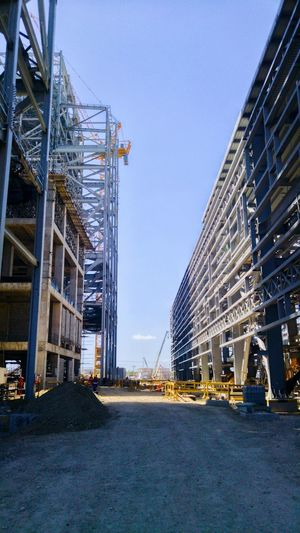 Engineer's life Built Structure No People Sky Outdoors Metal Industry Day Building Exterior Steel Structure  Industrial Works Construction Engineering Industry Powerplant Dominican Republic