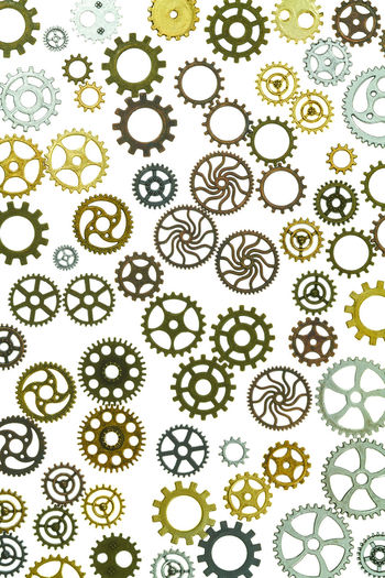 gears Abundance Art And Craft Backgrounds Biology Close-up Design Floral Pattern Full Frame Gear Green Color High Angle View Indoors  Large Group Of Objects Microbiology Nature No People Ornate Pattern Plant Science Shape Steampunk White Color