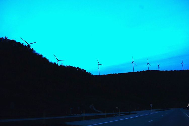 Fuel And Power Generation Alternative Energy Wind Turbine Renewable Energy Environmental Conservation Wind Power Clear Sky Windmill No People Silhouette Electricity  Outdoors Nature Westvirginia Moun Sky Technology Day Industrial Windmill EyeEm Nature Colors