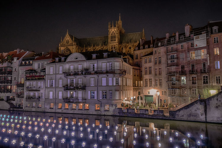 17.62° Waterfront Canal Cityscape The Traveler - 2018 EyeEm Awards The Street Photographer - 2018 EyeEm Awards Europe Metz France Metz, France Illumination Boats Reflection Reflections In The Water Church Architecture Architecture_collection The Architect - 2018 EyeEm Awards City Cityscape Illuminated Place Of Worship Clock