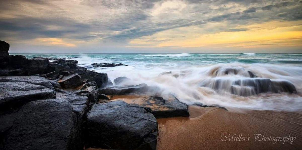 Sea Sunrise Seascape Sea And Sky Ocean Seaside Beach Ocean Waves Rocks