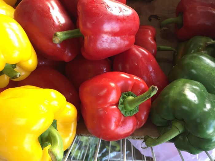Bell Pepper Red Food And Drink Freshness Vegetable Red Bell Pepper No People Food Close-up Healthy Eating Yellow Day