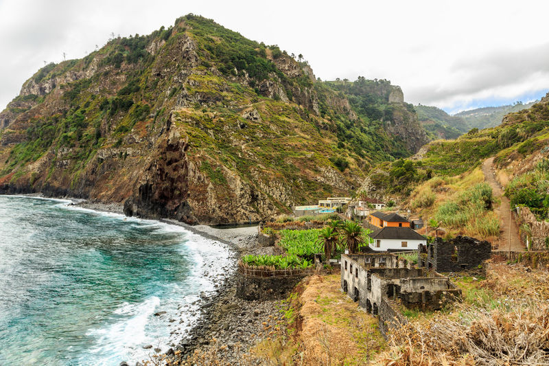 Madeira Island São Jorge Beauty In Nature Day House Mountain Nature No People Outdoors Ruins Architecture Scenics Sea Sky Water