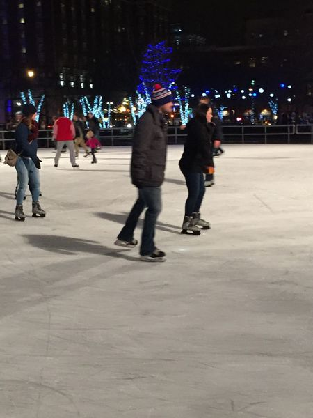 And know for the open Ice skaters⛸⛸ Winter Wonderland Gatherings Ice Skating Showcase: December Taking Photos Christmas Lights Outdoors Gathering Celebration People Christmas Spirit Lights Christmaslights Funtimes Michigan Pure Michigan