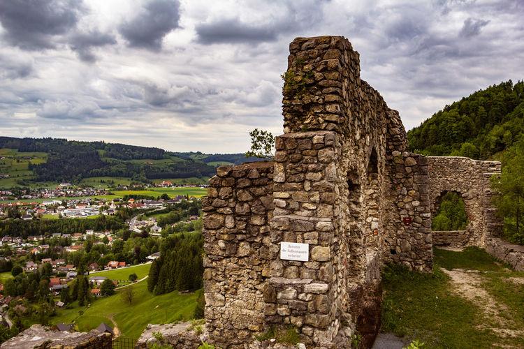 Ruins Ruined Building Castle Castle Ruin Mountain Cityscape Scharnstein Salzkammergut Salzkammergut, Austria Romatikstraße Oberösterreich Burgruine Middle Ages The Great Outdoors - 2017 EyeEm Awards