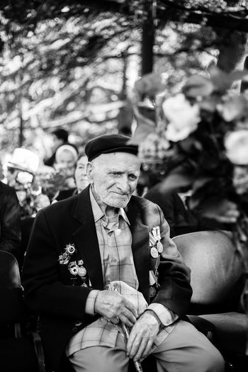 Veterans of World War II is attending the event dedicated to them Tbilisi 2017. Each of the Veterans are more then 95 years old. They are heroes of the war The Photojournalist - 2018 EyeEm Awards Adult Men Real People Veterans
