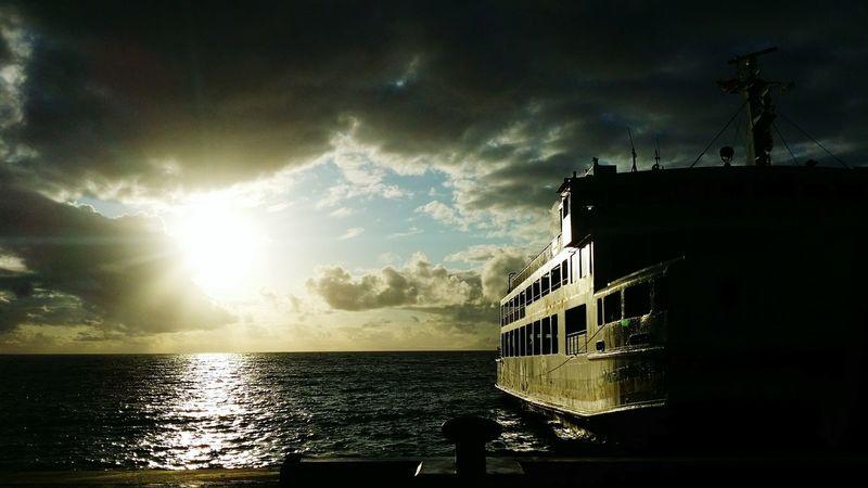 Sea And Sky Morning Light Mindoro, Philippines Ship