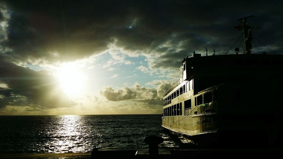 Sea And Sky Morning Light Mindoro, Philippines Ship