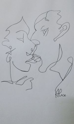 Handwriting  Sketch Paper Doodle No People Sketch Pad Close-up Astronomy Day Kiss Romantic Dramatic Art