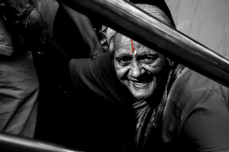The pain her eyes!!! Bengaluru' Expression Hindu Human OldageIndia One Person Pain Portrait Woman