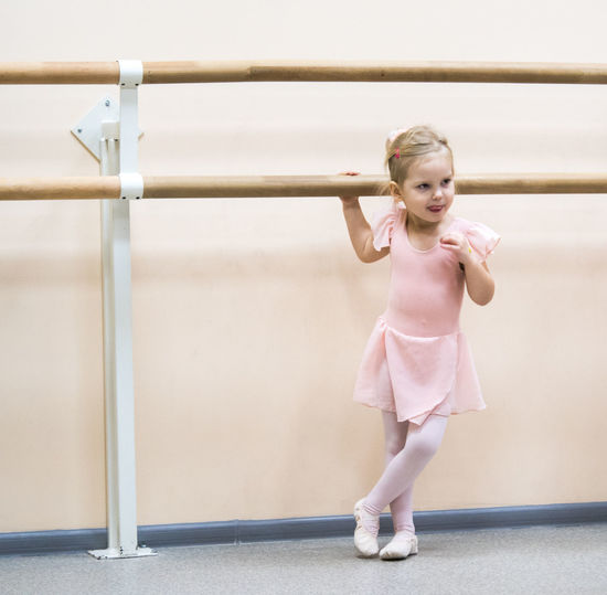 Ballet Ballet Dancer Child Childhood Cute Dancing Females Front View Full Length Girls Hairstyle Indoors  Innocence Leisure Activity Lifestyles One Person Real People Standing Women