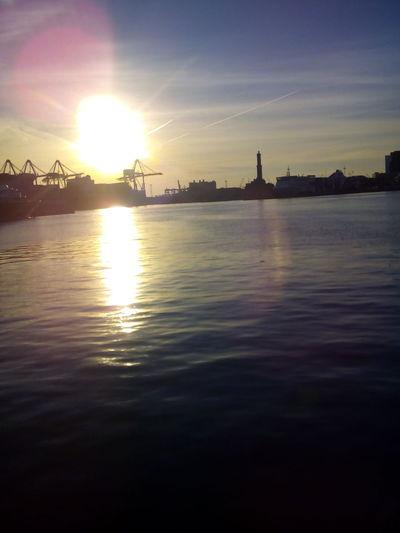 Genova Genovacity Leuchturm Sunset Sunset_collection Friendship Magic Moments Silence Boats⛵️ Oldport Portoantico