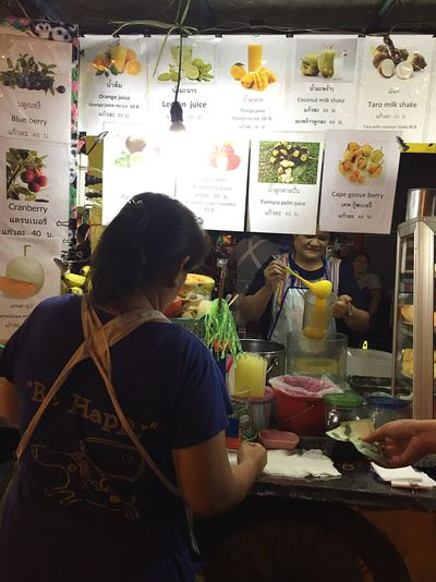 Thai style smoothies @ China Town Bangkok Food Thailand Bangkok Bangkok Thailand. Vendor Fruit Night Street Food China Town Bangkok
