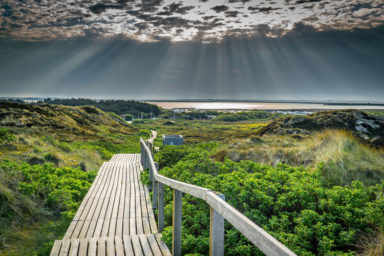 Scenics - Nature Sky Nature Beauty In Nature Cloud - Sky No People Direction Day Sunlight Plant Mountain Environment The Way Forward Landscape Tranquil Scene Land Footpath Railing Architecture Non-urban Scene Outdoors